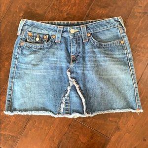 True Religion denim Mini skirt size 30